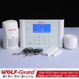 Nuevo sistema de alarma del G/M +PSTN con la visualización del LCD y el telclado numérico del tacto