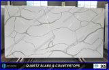 La barra artificiale della pietra del quarzo della decorazione di Calacatta supera i colori