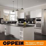 Gabinete de cozinha de madeira da laca branca de Oppein Austrália para a casa de campo (OP15-L28)