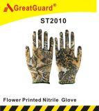 Напечатанная цветком перчатка Nitirle