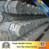 Tubo d'acciaio pre galvanizzato laminato a caldo dell'impalcatura di Rhs di ERW