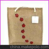 Самый лучший продавая мешок Tote подарка джута для ежедневной пользы
