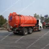 Sinotruckの熱い販売の吸引-販売のための16cbm吸引の下水のトラックに下水道の清掃動物6cbmをタイプしなさい