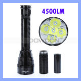 Tr-J12 5 * CREE Xm-L Xml T6 4500lm Waterproof LED Flashlight Torch für Camping