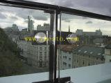 Mur rideau en verre Tempered-Stratifié par balcon plat de forme