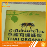 꿀 단지 병 레이블을 인쇄하는 주문 레이블