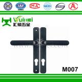 Punho de alumínio do dobro do indicador de deslizamento e do fechamento de porta com chave (M007)