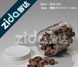 Vaso quadrato trasparente di plastica impaccante della caramella dell'animale domestico del vaso di plastica con la protezione libera