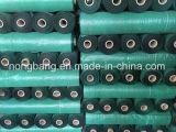Verde della Cina 90GSM con la rete fissa nera del limo tessuta pp