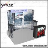 Cabina de aluminio de la visualización del sistema del braguero de la exposición