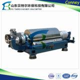 Parafuso horizontal que descarrega o centrifugador