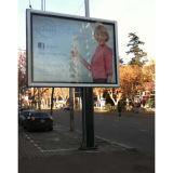 Cadre léger de publicité méga de Pôle de signe du bâti extérieur DEL d'Aluninium