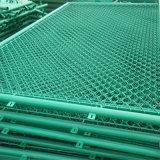 Загородка сетки звена цепи PVC Coated