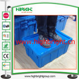 Turnover plástico Storage Box com Hinged Lids