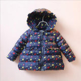 Printed Flower Girl Coat para crianças roupas de inverno