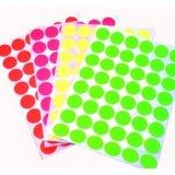 Малые круглые цветастые стикеры бумаги печатание (ST-005)