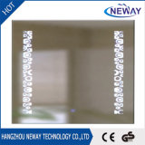 New Sliver Bathroom Modern Makeup Wall Mounted LED Mirror