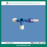 Medizinischer Dreiwegewegwerfabsperrhahn mit Cer u. ISO