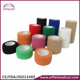 Del deporte médico colorido caliente de 2016 vendaje cohesivo auto-adhesivo ventas