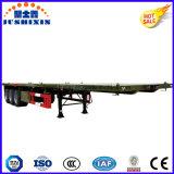 3-as 2*20FT de Vlakke Semi Aanhangwagen van de Container van het Bed
