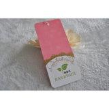 Etiquetas rosadas de la caída del oscilación de la cartulina para la ropa/el regalo promocional de las mujeres