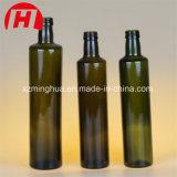 frasco de vidro quadrado regular ambarino de petróleo verde-oliva de 250ml 500ml 750ml 1000ml