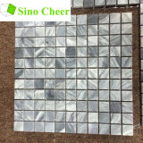 Configuration de marbre grise italienne carrée de tuile de mosaïque de Cararra