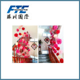 装飾的なペーパー花をハングさせる混合されたカラー及びサイズ
