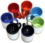 Кружка сублимации керамического Coated белого цвета чашки изменяя
