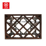 Top Sale 8 Mini Home Cellar Display Red Wood Wine Rack para decoração