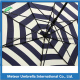 Plutônio Coated Leather Handle Promotion Gift Parasol Sun e Rain Umbrella