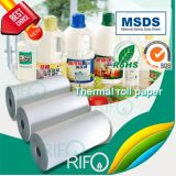 Material sintético do branco BOPP das etiquetas impermeáveis das etiquetas com MSDS RoHS