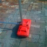 Fencing provisório com Plastic Feet com Concrete