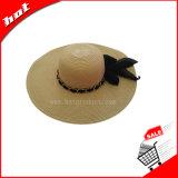 Chapéu fêmea flexível de Sun do chapéu de palha da mulher