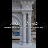 Camino bianco Mfp-1022 di Carrara del camino di pietra di marmo del granito