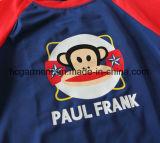 아이 소년 수영복. 원숭이는 낙하산 강하복 수영 착용을 인쇄했다