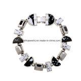 Pendente di progettazione geometrica del braccialetto delle donne in bianco e nero semplici del diamante di modo caldo di vendita