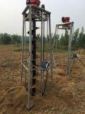 地上の鋭い装置の植林の穴の坑夫