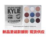 Gama de colores impermeable duradera más nueva del sombreador de ojos del maquillaje de la sombra de ojo de los colores de Kyshadow 9 de la gama de colores del día de fiesta de Arrvial Kylie de la Navidad caliente la nueva