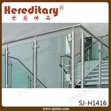 InnenEdelstahl-Glasgeländer-Entwurf für Treppen-Hotel (SJ-H1415)