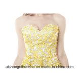 Vestido Strapless Parkle do baile de finalistas do querido que perla os Sequins A - linha vestidos do regresso a casa