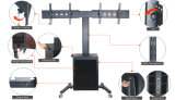 "Video Conference Stand Dual Screen 30-60 ""Lockable Cabinet (VRS 2000)"