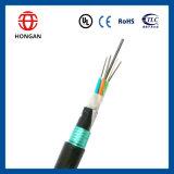 Cable óptico acorazado de poca atenuación de fibra 204 de la base GYTY53