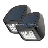Lumières solaires extérieures imperméables à l'eau du mur 10LED avec 3 modes