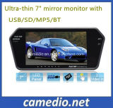 7 '' Bluetooth MP5 Car Rearview Mirror avec USB, prise carte TF, Bluetooth