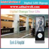 Visualización completa de HD LCD que hace publicidad de la señalización de pulido y de limpieza del zapato de la máquina de Digitaces