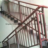 Escalera ligera cubierta o galvanizada del polvo escalera de la estructura de acero/