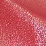 Zwei Ton Lichee Muster Belüftung-Kunstleder für Sofa, Möbel