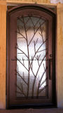 Artsticの木デザインWindowsおよびアパートのためのドア