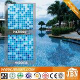 Piscine de couleur et glace de mosaïque bleues de salle de bains (H420010)
